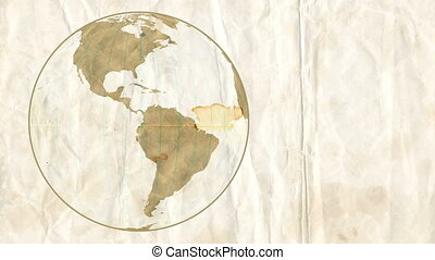 Loose Leaf Paper Globe - Animation of Planet Earth, made of...