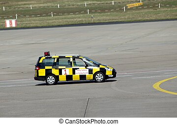 airport safety car