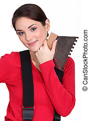 Woman with a spatula
