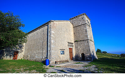 St jerome church in the Nanos mountain - View of St jerome...