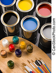 Paint cans - Let your world be colourful!