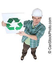 constructor, reciclaje, logotipo