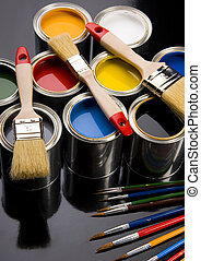 Colorful cans & paints - Let your world be colourful!