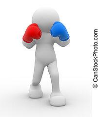 Boxer - 3d people - man, person , boxer.