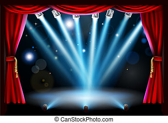 Centre stage background illustration - Stage background...