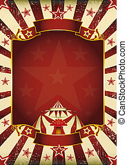 Fantastic grunge circus - A new background (vintage,...