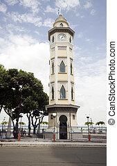 clock tower guayquil ecuador - moorish style clock tower...