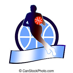 Basketball sign 1 - illustration