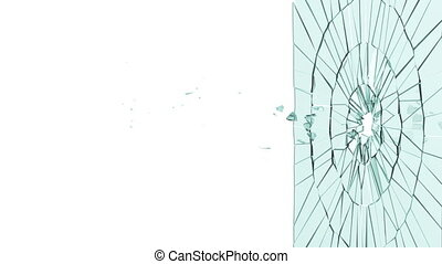 Bullet hole: Broken glass Alpha - Bullet hole: Broken glass...