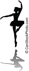 ballet dancer silhouette vector illustration