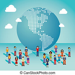 Global social media network in The Americas - Global social...