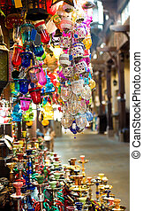 oriental lanterns Shop - collection of typical Tuskish...