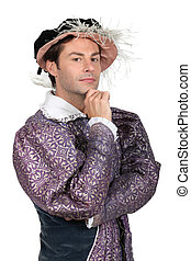 Man in Tudor Fancy Dress Costume