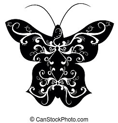 Pattern in a shape of a butterly.