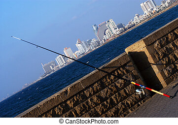Travel Photos of Israel - Jaffa - A fishing road leaning...