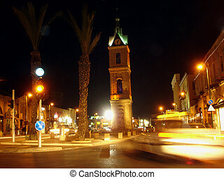 Travel Photos of Israel - Jaffa - The famous Clock Tower at...