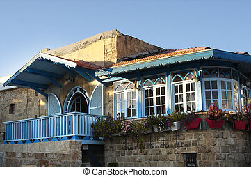 Travel Photos of Israel - Jaffa - An old house in old Jaffa,...