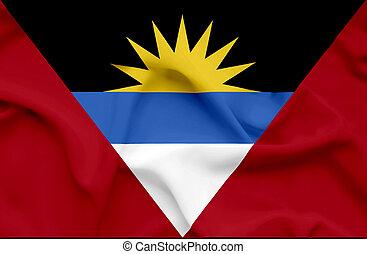 Antigua and Barbuda waving flag