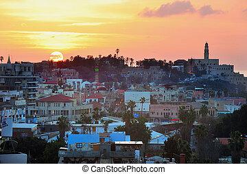 Travel Photos of Israel - Jaffa - Jaffa skyline during...