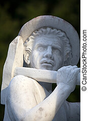 Marble sculpture of miner from Carrara