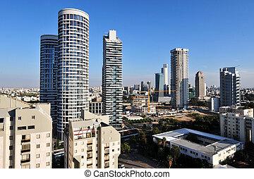Israel Travel Photos - Tel Aviv - Aerial view of apartment...