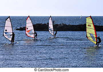 Israel Travel Photos - Tel Aviv - Wind surfing on Tel-Aviv...