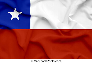 Chile waving flag