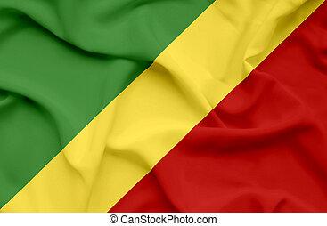Congo waving flag