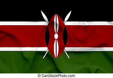 Kenya waving flag