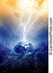 Planet in danger - Scientific background - big lightning...