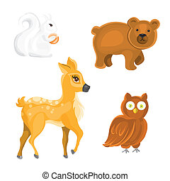 Vector Forest Animals - Vector Set with Forest Animals