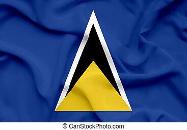 Saint Lucia waving flag