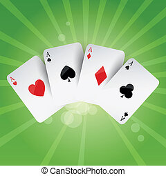 Vector Poker Aces - Vector Illustration of Poker Aces