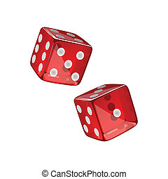 Vector Dices - Vector Illustration of two Dices