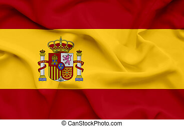 Spain waving flag