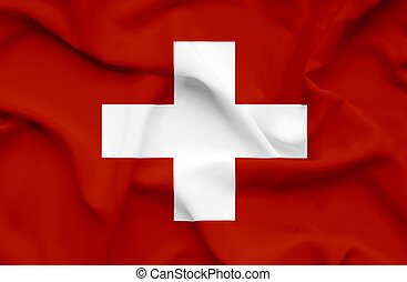 Swiss waving flag