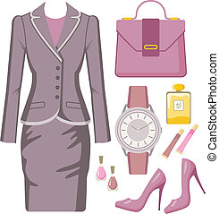 Fashion set from a female suit
