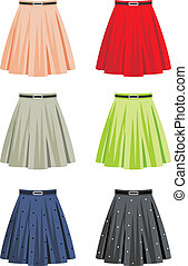 Skirts - Vector illustration It is created in the CorelDraw...