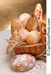 Fresh bread and pastry - Variety of fresh baked products...