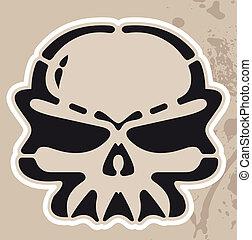Vector -  skull - Vector -  skull