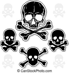 Set of Skulls with Crossbones