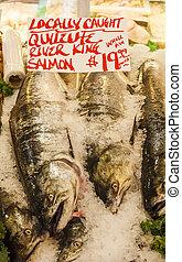 King Salmon at Market