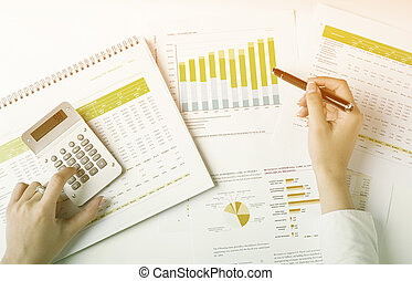Analyzing Business Data - Market Analyze - pen and numbers...
