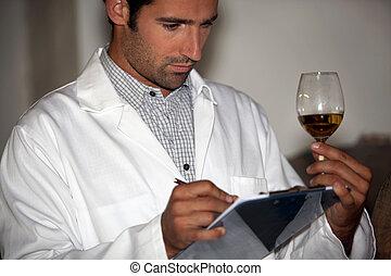 wine expert tasting wine
