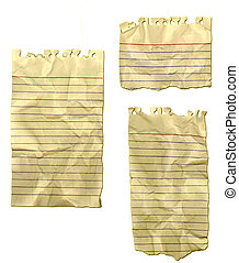 Ripped Paper Wrinkled Old Notebook - Ripped paper - old,...