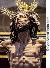 Christ of the forgiveness in the parish church of Santa...