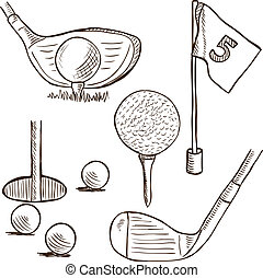 Golf collection - doodle style