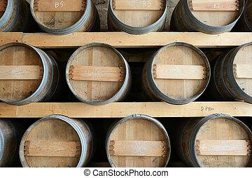 Set of wine barrels