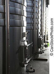 Steel wine vats