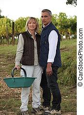 Couple on farm